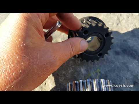 При износе шестерней ГРМ изменяется модуль зуба и ремень рвётся