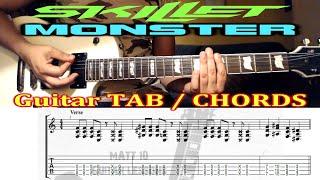 Monster (Skillet) GUITAR TAB and CHORDS - EASY ROCK GUITAR SONG