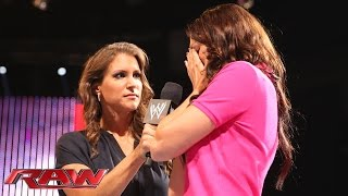 "getlinkyoutube.com-Stephanie McMahon reveals Daniel Bryan's ""secret"": Raw, Aug. 11, 2014"
