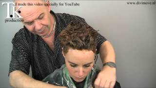 getlinkyoutube.com-This woman wants curls so she gets curls, curls, curls! Perm and color by T K