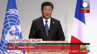 getlinkyoutube.com-COP 21: Xi Jinping's full speech on climate change - live