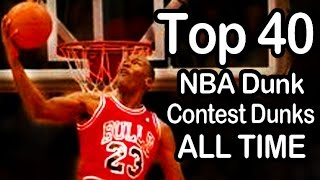 getlinkyoutube.com-Top 40 Best NBA Dunk Contest Dunks - ALL TIME (1984-2014)