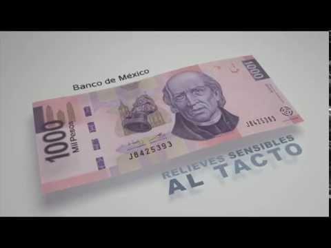 Billete de 1000 pesos (tipo F) - elementos de seguridad II