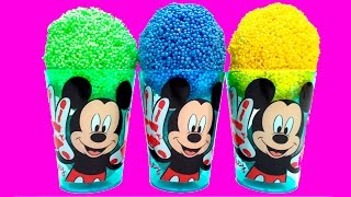 getlinkyoutube.com-Mickey Mouse Surprise Eggs Mickey Mouse Ice Creams Minnie Mouse Disney Angry Birds SpongeBob Eggs