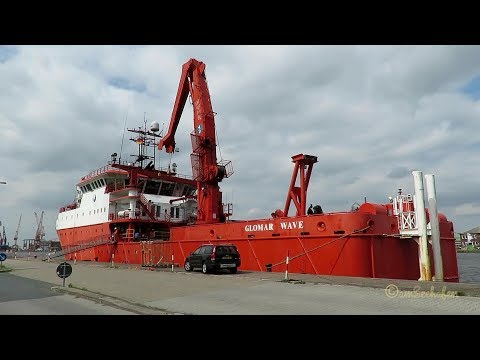 Click to view video offshore accommodation vessel GLOMAR WAVE 3FXF4 IMO 9682617 Windpark Wohnschiff Emden