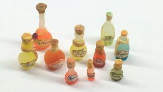 getlinkyoutube.com-Miniature Wish Bottles- Polymer clay and latex molds (Tutorial)