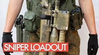 getlinkyoutube.com-Airsoft Sniper Loadout | Gear | Equipment
