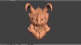 getlinkyoutube.com-Blender Tutorial - Sculpting in Blender Part 1 of 2