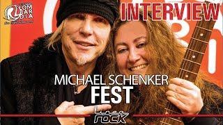 MICHAEL SCHENKER (Fest) - interview @Linea Rock 2018 by Barbara Caserta