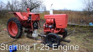 getlinkyoutube.com-Starting Tractor T-25 Engine (1080p)