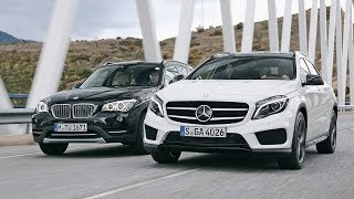 getlinkyoutube.com-BMW X1 vs. Mercedes GLA