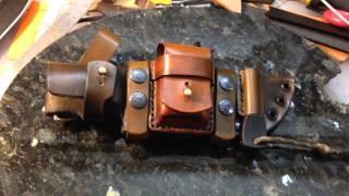 getlinkyoutube.com-Mountaineer Pro Custom Leather Sheath for Ka-Bar Becker BK-2