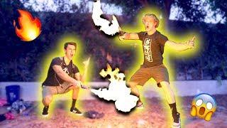LIGHTING MY BROTHER'S BACKYARD ON FIRE!