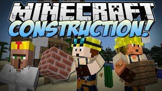 getlinkyoutube.com-Minecraft   CONSTRUCTION! (Turn Blueprints into EPIC Kingdoms!)   Mod Showcase