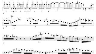 getlinkyoutube.com-Michael Brecker's Solo Trascription - Leaving My Troubles Behind (Watch & Listen To The Score)