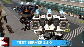 getlinkyoutube.com-New Spirals Heavy Weapon - War Robots Test Server 2.5.0
