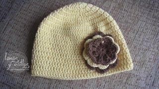 Tutorial Gorro Crochet o Ganchillo Fácil Paso a Paso (English subtitles)