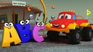 getlinkyoutube.com-Monster Truck Dan   ABC SONG   Alphabet Song