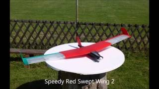 Red Swept Wing 2 - fully printed airplane craches