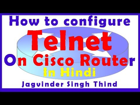 How to configure Telnet on Cisco Router in Hindi