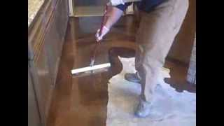 getlinkyoutube.com-'Coffee' Reflector Epoxy- Decorative Concrete Floor Installation (alternative to acid-stained!)