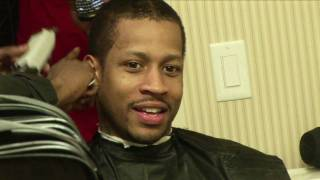 getlinkyoutube.com-Allen Iverson Cutting His Hair!!
