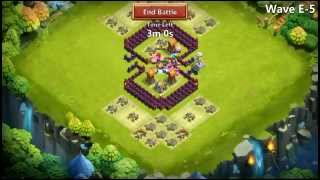 getlinkyoutube.com-Castle Clash - HBM Farming E No Garrisons