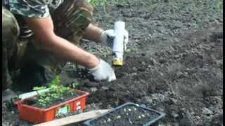 getlinkyoutube.com-Ручная машинка для высадки рассады в открытый грунт