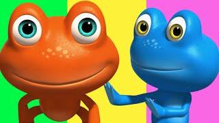 getlinkyoutube.com-Frog Finger Family | Nursery Rhymes Collection | 3D Finger Family Songs