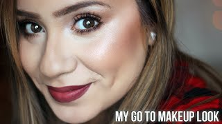 GET READY WITH ME : MY DAILY ROUTINE : EASY MAKEUP FOR SCHOOL OR WORK