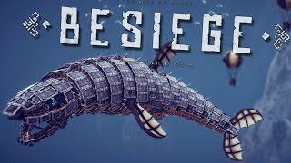 getlinkyoutube.com-FLYING MEGASHARK! | Besiege #61 | Player Creations!