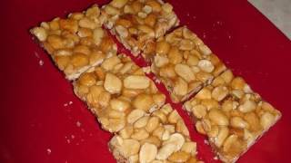 getlinkyoutube.com-Sing chikki or Gachak or Peanut Chikki or Mumfali Chikki (Peanut bar or brittle)