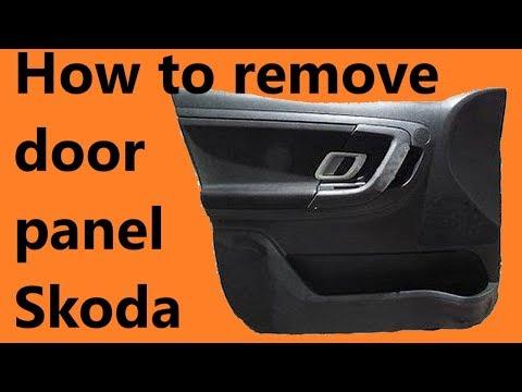 How to remove front door panel Skoda Fabia