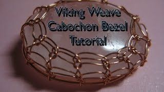 getlinkyoutube.com-Viking Weave Cabochon Bezel Tutorial