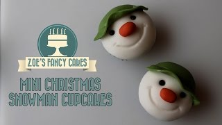 getlinkyoutube.com-Christmas snowman cupcakes for beginners How to cake decorating tutorials