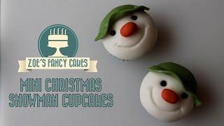 getlinkyoutube.com-Christmas snowman cupcakes for beginners How to cake decorating tutorials