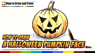 getlinkyoutube.com-How to Draw a Halloween Pumpkin Face - Art for Kids | MAT