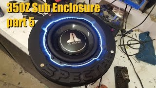 getlinkyoutube.com-Builds: 350Z Spare Tire sub Enclosure Part 5 Bonus sound system overview