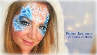 getlinkyoutube.com-Frozen Butterfly - Makeup and Face Painting