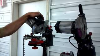 getlinkyoutube.com-Oregon chain grinder trick to reverse the wheel chainsaw