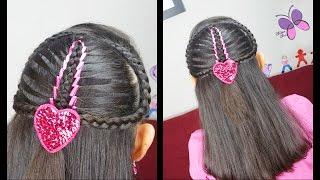getlinkyoutube.com-Trenza Sirena con Cinta - Mermaid Ribbon Braid | Trenza Diadema | Peinados para toda Ocasion
