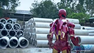 getlinkyoutube.com-Killerbody Hero Iron Man Armour-Mark VII Laser Effect Display