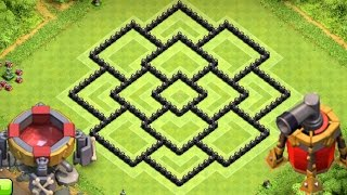 getlinkyoutube.com-Clash of Clans - Best Townhall 8 (TH8) Farming BASE Defense NEW Dark Elixir Spells & Air Sweeper