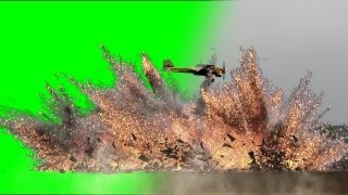 getlinkyoutube.com-Aircraft fly bomb Attack with sound - action movie green screen
