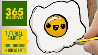 getlinkyoutube.com-COMO DIBUJAR UN HUEVO FRITO KAWAII PASO A PASO - Dibujos kawaii faciles - How to draw a fried egg