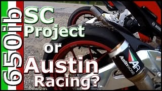 getlinkyoutube.com-Aprilia RSV4 RF | Austin Racing GP1R vs SC Project Exhaust!
