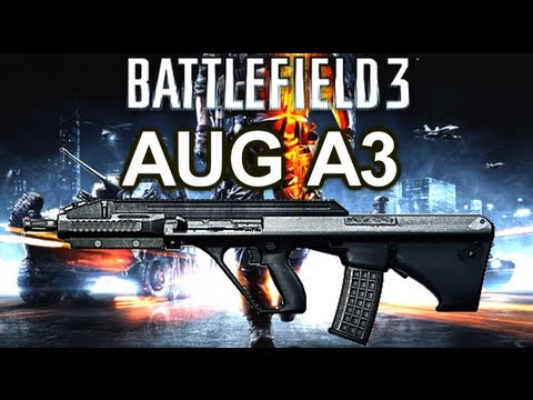 Battlefield 3 Online Gameplay - AUG A3 Weapon Review on PC LIVE COM Part 46