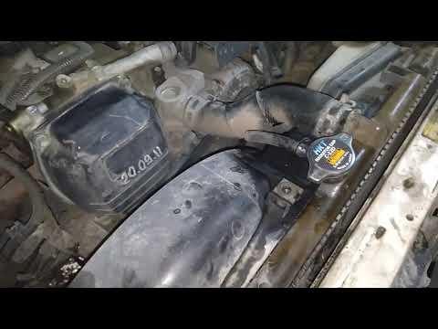 Расположение радиатора печки у Toyota Chaser
