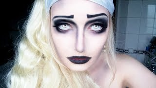 getlinkyoutube.com-Halloween Makeup Tutorial - Dark Fairy - Inspired by Corpse Bride