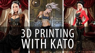 3D Printing a Steampunk Prop Dagger with Queen of Steam Kato on Prusa i3 mk2 3D Printer